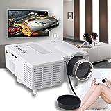 Wekold Mini Proiettore LED Portatile 40-50 Pollici Proiezione, Videoproiettore Home Theater Proiettori, Compatibile con TV-Box/Dvd/ HDMI/USB/ Carta SD ECC
