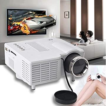 Fanxis UC28 Portable Mini Portable Entertainment Projector - Home LED Portable Entertainment HD Projector for Cellphone
