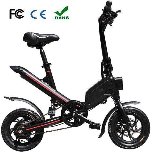 Zhixing Plegable Bicicleta Eléctrica City Montaña Unisex Adulto 12 ...