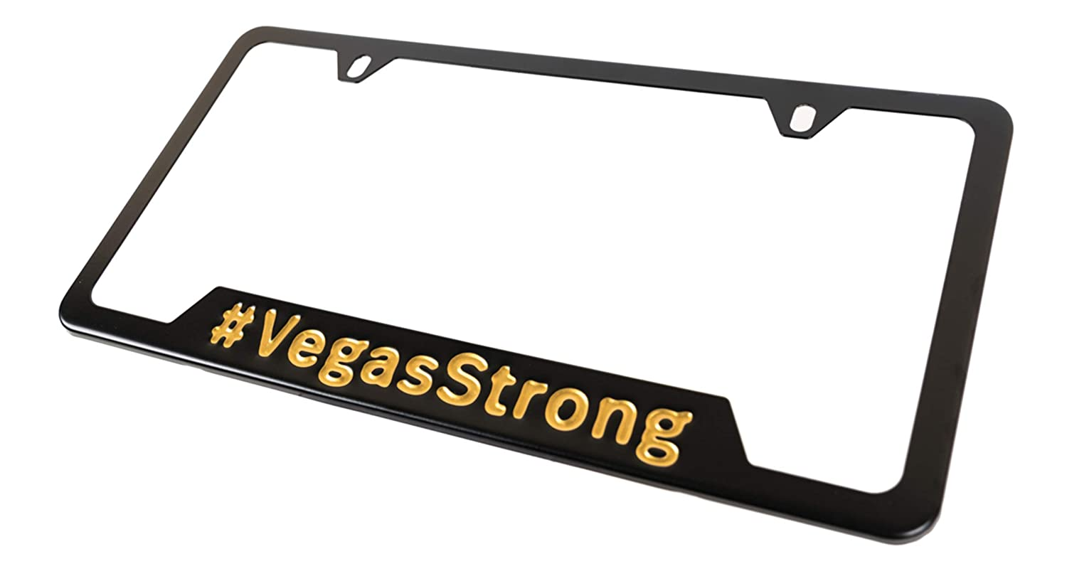 Vegas Golden Knights Colors Las Vegas License Plate Protector Vegas Strong License Plate Frame