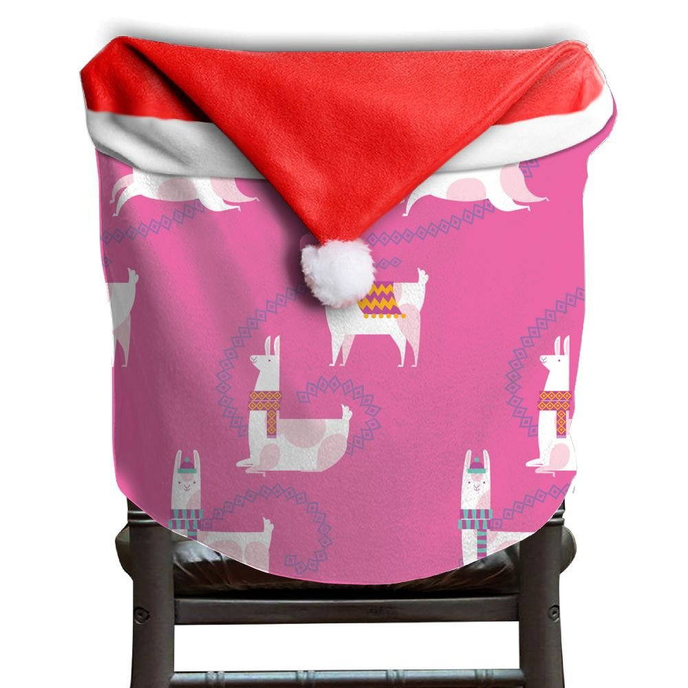 Llama Animal Christmas Chair Covers Sleek Not Fade Chair Covers For Christmas For Husbands Christmas Chair Back Covers Holiday Festive