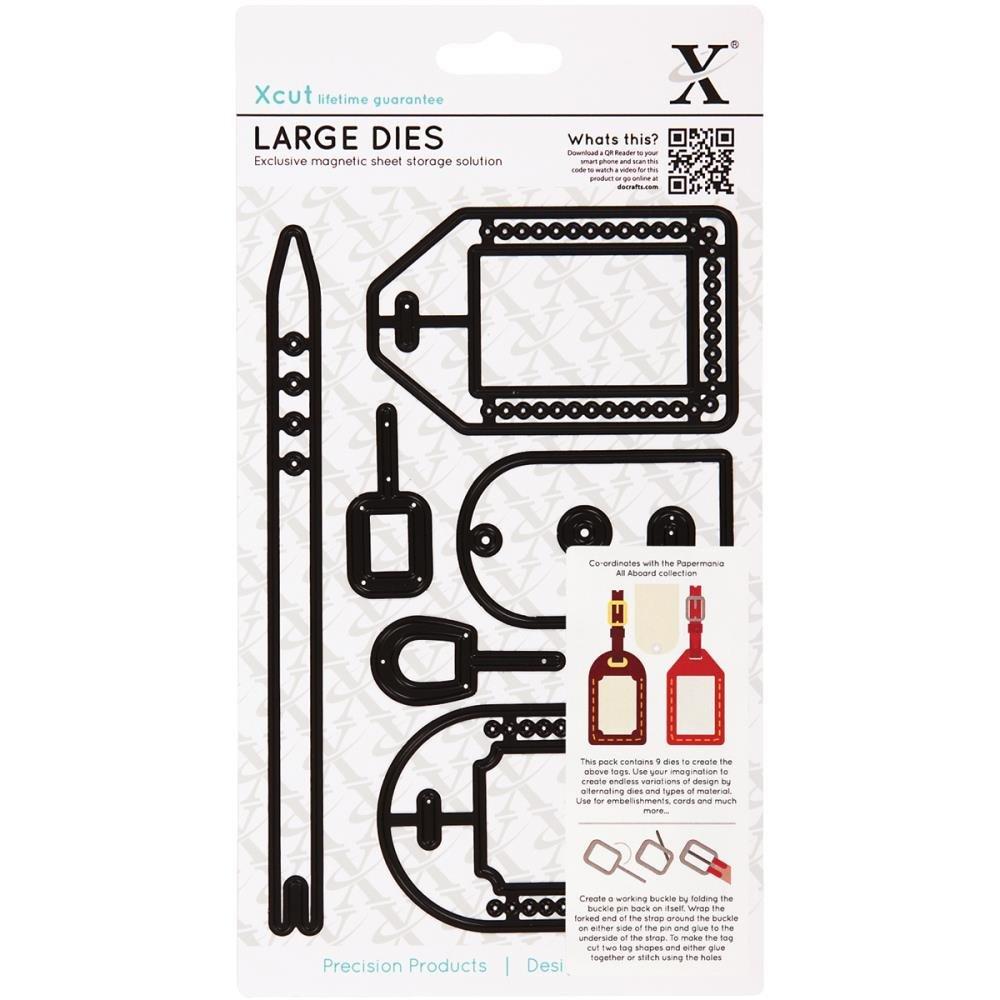 Xcut Docrafts Aboard etichette per bagagli grandi universali da taglio 503074 XC503074