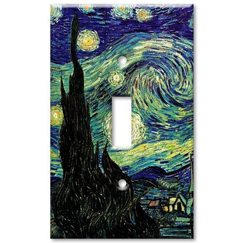 - Van Gogh: Starry Night Metal Wall Plate - Single Gang Toggle