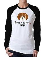Idakoos - Forever in my heart Beagle - Dogs - Women Raglan Long Sleeve T-Shirt