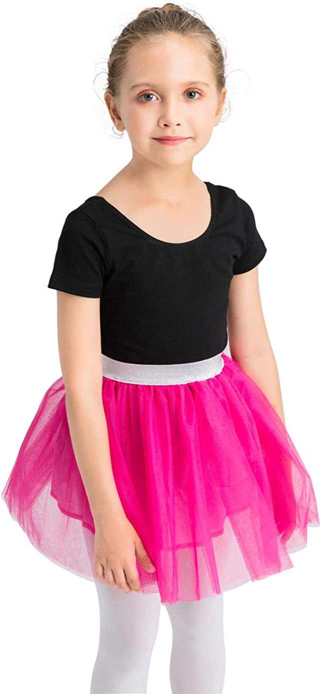 Summer Tulle Skirt Pure Color Layered Dress up Soft Lining 100/% Cotton 2-12T Girls Tutu Skirt