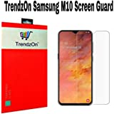 TrendzOn® Samsung Galaxy M10 Hammer Proof Screen Protector. Flexible Screen Protector Made with Unbreakable Impossible Film Glass [ Not a Tempered Glass ] Screen Guard for Samsung Galaxy M10 - Clear