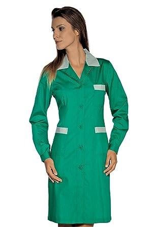 Isacco-Bata De Trabajo Positano Manga Larga, diseño De Rayas, Color Verde, Color Verde: Amazon.es: Industria, empresas y ciencia