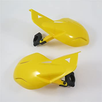 XKH B01LWIM2KO Motorcycle Yellow 7//8 22mm Hard Plastic Reinforced Hand Guards Protectors Compatible with Racing Dirt Bike ATV Snowmobile Polaris RMK Ski-Doo