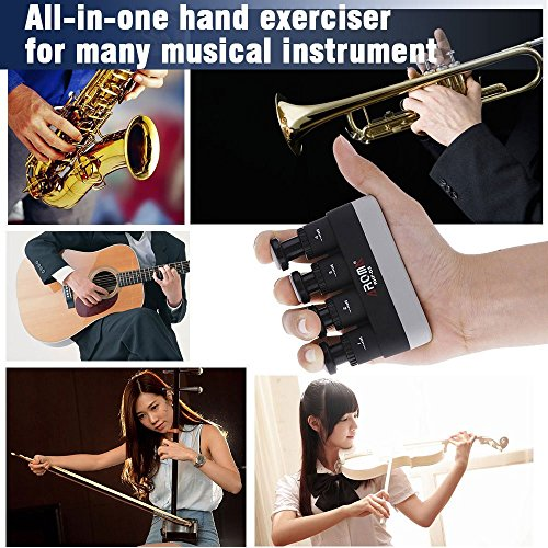 and Physical Therapy Athletes Piano Fansjoy Hand Exerciser Strengthener Musicians 4 Finger Grip Adjustable Guitar Finger Strength Exerciser Trainer Practice Aids for Guitar Rock Climbers