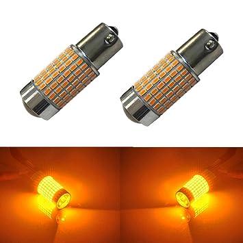 JDM Astar extremely bright 144-ex Chipsets 1156 1141 1073 7506 bombillas LED con proyector, color ámbar amarillo: Amazon.es: Coche y moto