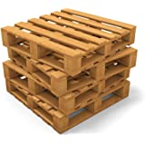 Wallmonkeys Four Pallets Stack Peel and Stick Wall Decals WM122781 (30 in H x 30 in W)
