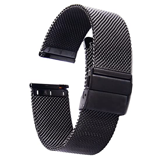 [ZHUGE] Watch Straps - New Style Double-Press Clasp Buckle Milanese Mesh Watch