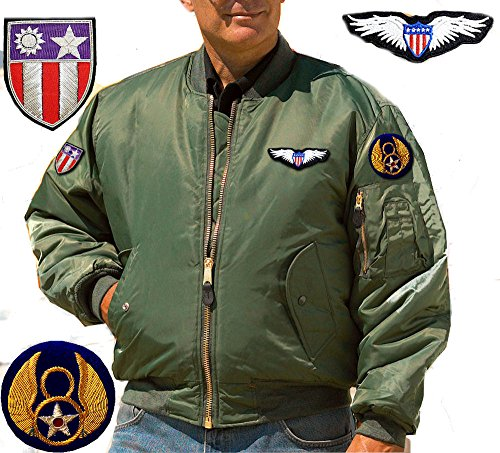 BOMBER PILOTA AVIAZIONE USA, GIUBBOTTO DA VOLO AMERICANO
