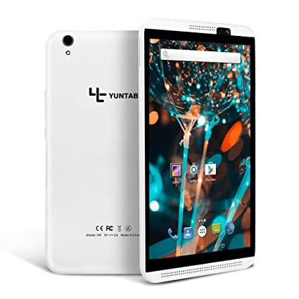 Tablet 8 Pulgadas 4G WiFi Android YUNTAB, 2 GB RAM 16 GB Memoria Interna,Procesador Quad-Core, Batería 5000mAh,Dual Sim /DualCámara/Bluetooth/GPS/OTG ...