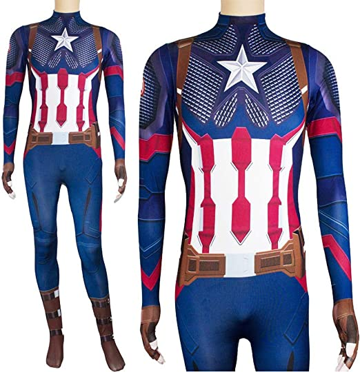 KLEIDEE Cosplay Ropa Traje De Cosplay De Capitán América Marvel ...