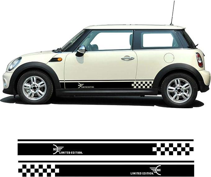 2 Stück Styling Auto Seite Racing Streifen Schweller Rock Vnyl Aufkleber Limited Edition Für Mini Cooper R50 R52 R53 R56 R57 R58 R59 2 Türer Glänzend Schwarz Küche Haushalt