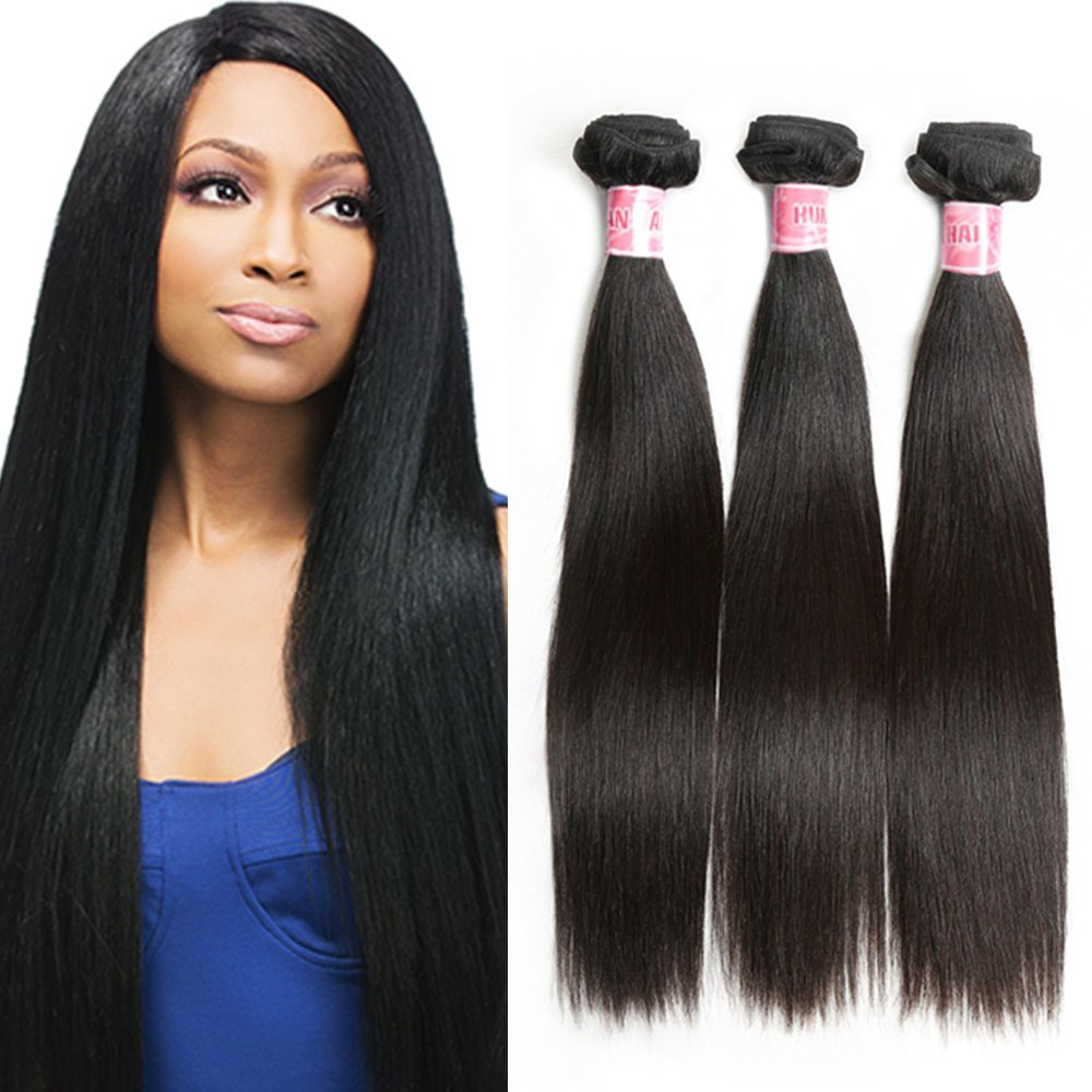 Amazon Morica Hair 7a Brazilian Virgin Straight Hair 3 Bundles