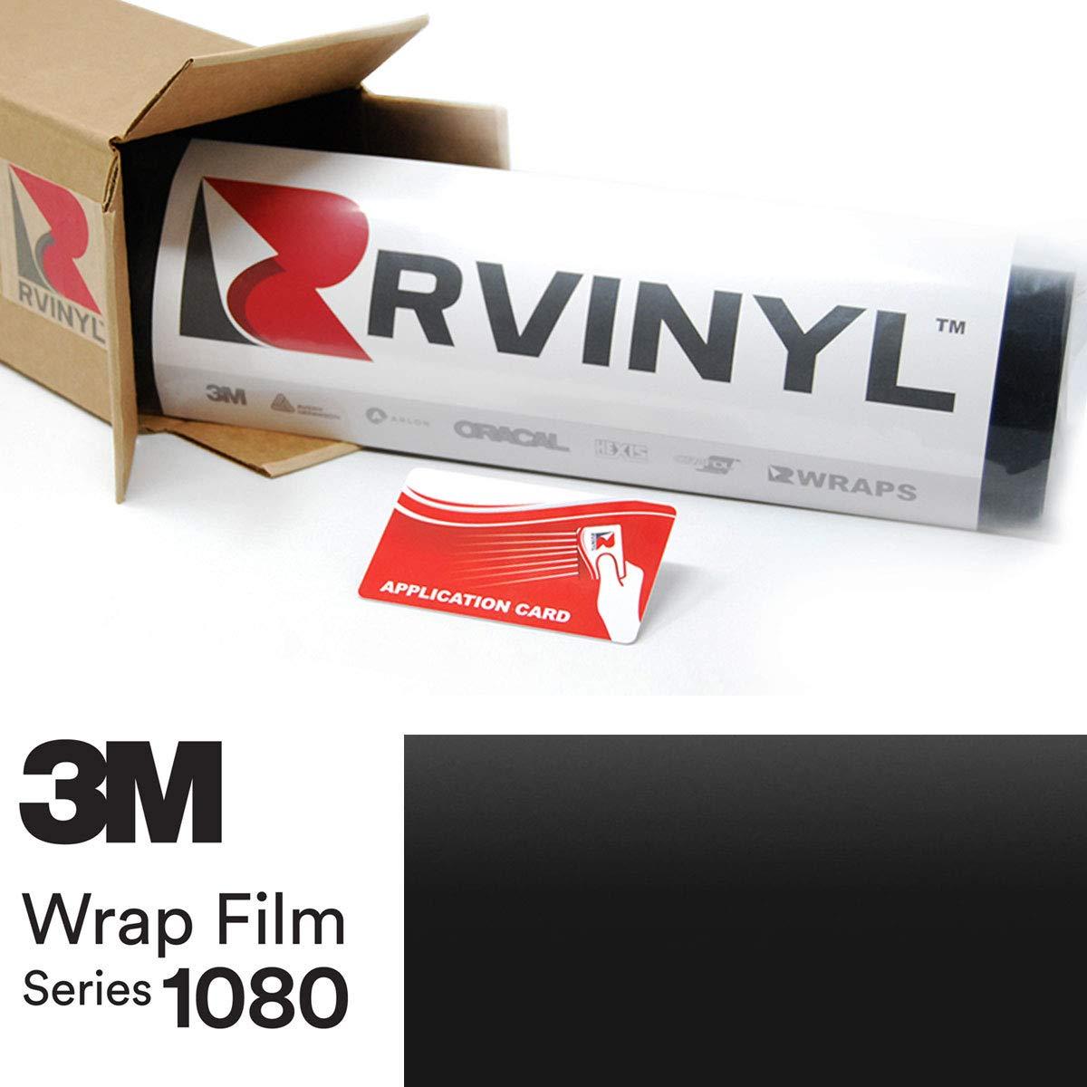 3M 1080 M22 Matte DEEP Black 4in x 6in Vinyl Vehicle Car Wrap Film Sheet Roll Sample Size