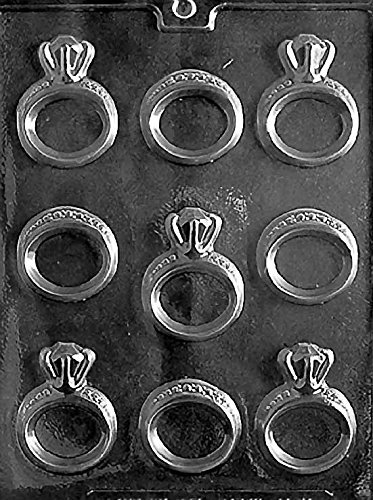 Wedding Engagement Rings Chocolate Mold - W051 - Includes Melting & Chocolate Molding Instructions (Engagement Ring Ice Mold)