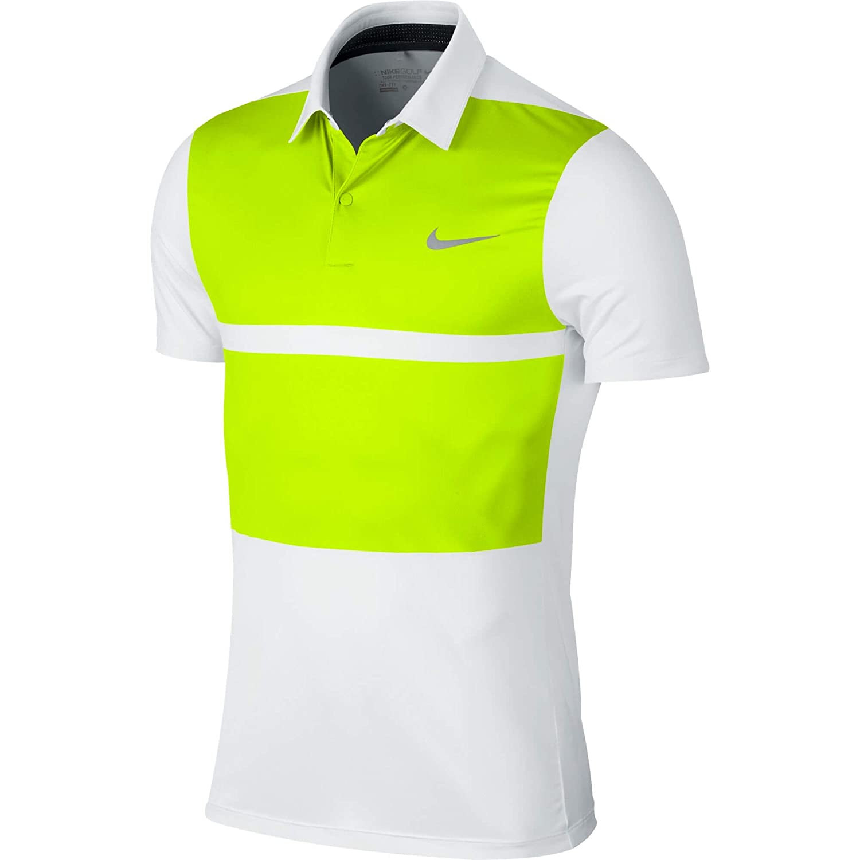 White (White Volt) S Nike mm Fly Framing Block Polo Shirt