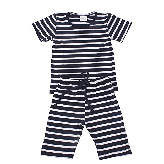 fcd21973b85 Baby Girls Boys Summer Cotton Multistripe Short Sleeve T-Shirt Cute 2pcs  Short Sets Outfits