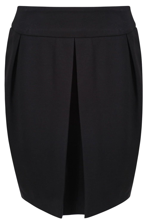 Ex M& S Girls Black A-Line Pleated School Skirt Zip Stretch Kids Age 9-16 Years