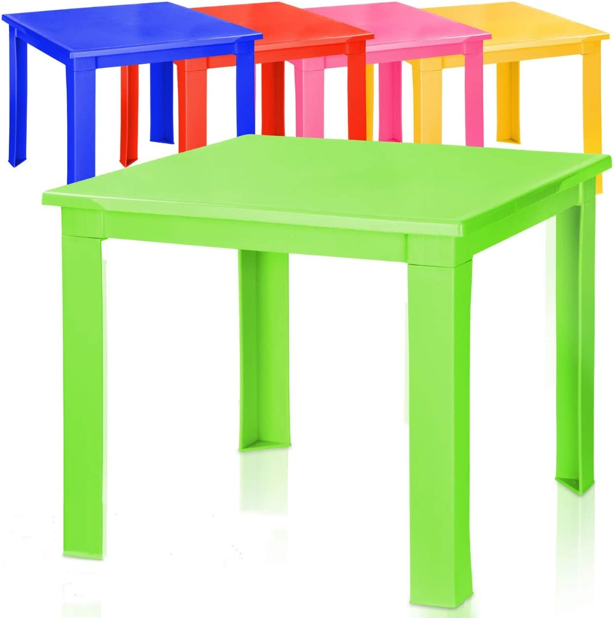 Blue Kids Children Plastic Table Strong Folding Table High Quality Suitable for Outdoor Side Table