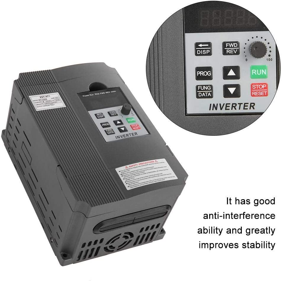 LHQ-HQ Variable Frequency Drive 2.2KW 220V Single Phase Universal Variable Frequency Drive VFD Frequency Converter Inverter with Frequency Transformer