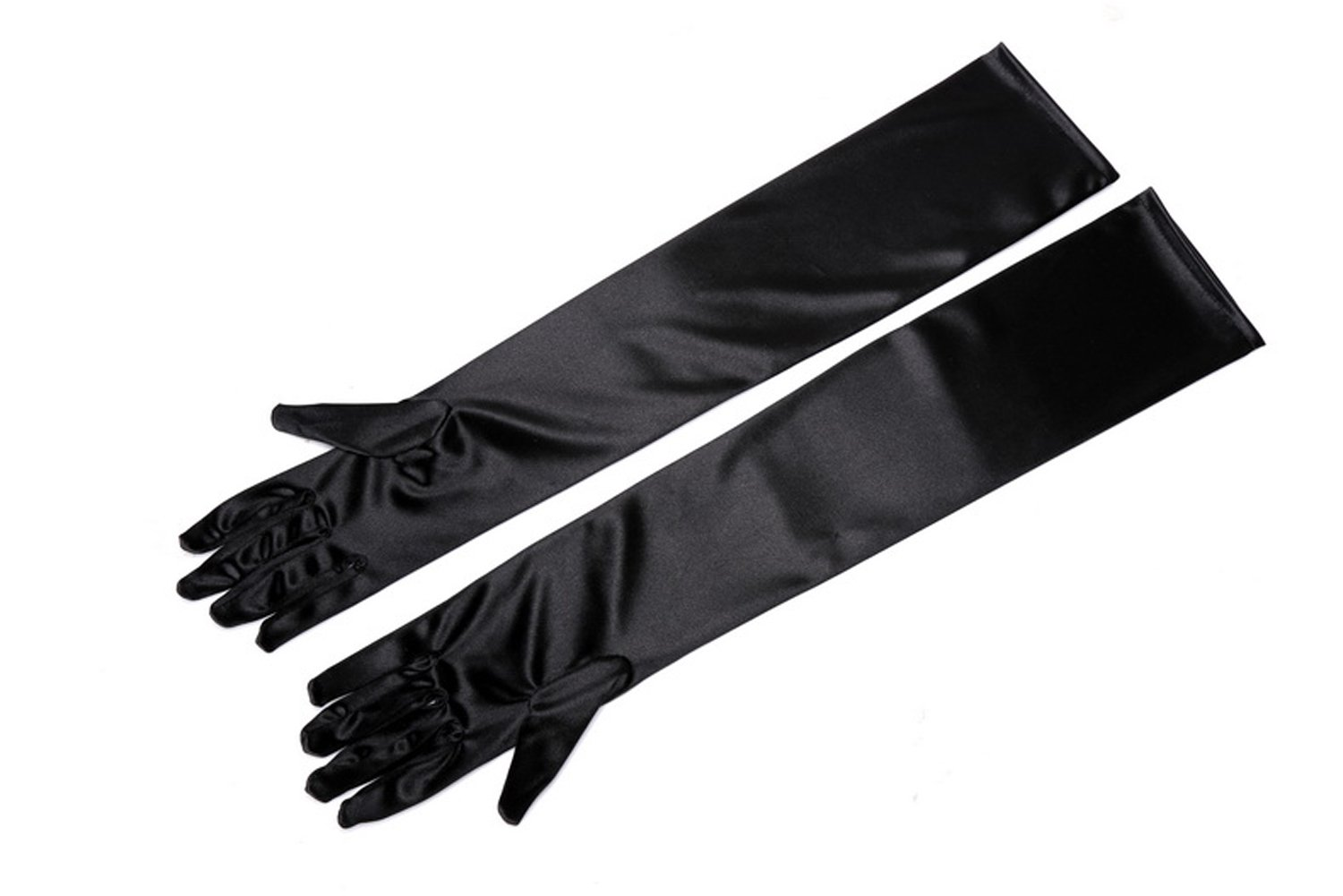 Utopiat Premium Adult Size Classic Long Satin Gloves All Occasion 2 Sizes Below the Elbow and Over the Elbow (Above Elbow)