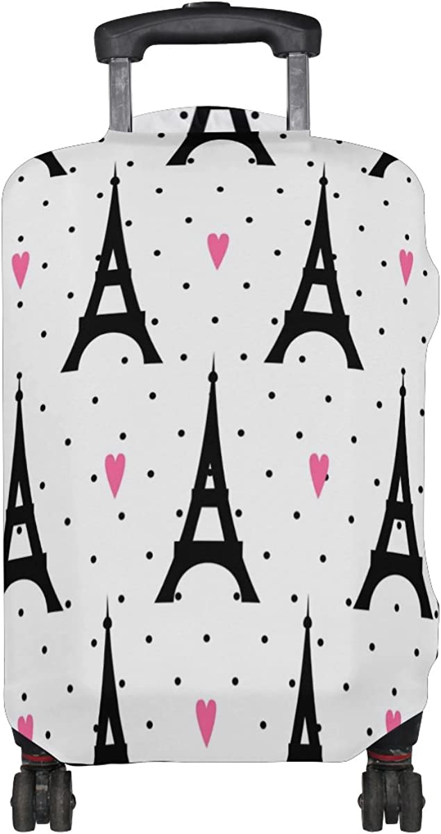 LAVOVO Paris Eiffel Tower Love Luggage Cover Suitcase Protector Carry On Covers