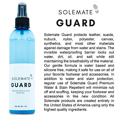 Solemate Guard - Premium Water & Stain Repellent - Waterproof and Protect Suede, Leather, Nubuck, Fabric, Nylon, Polyester & More - Sneakerhead Protector for All Sneakers, Shoes, Boots, Accessories by Solemate (Image #2)