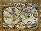 1000 Pcs World Map Jigsaw Puzzles Intellectual Games for Adults and Kids