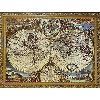 Amazon educa antique world map 1000 piece puzzle toys games 1000 pcs world map jigsaw puzzles intellectual games for adults and kids gumiabroncs Choice Image