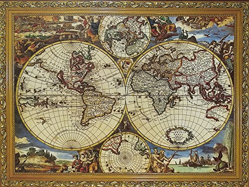 1000 Pcs World Map Jigsaw Puzzles Intellectual Games for Adults and Kids by NY