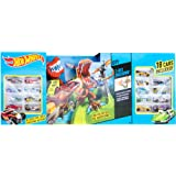 Hot Wheels T-Rex Takedown Playset With 18 Cars