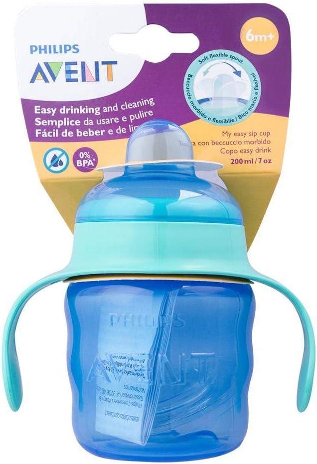Philips Avent SCF551//03 color rosa 200 ml Vaso con boquilla de silicona para ni/ña para bebe de 6 meses v/álvula antigoteo sin BPA