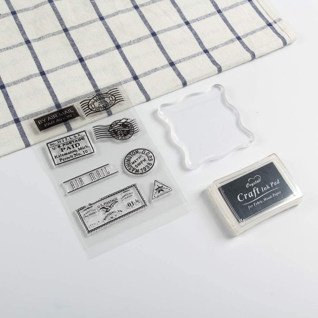 rongweiwang PVC Transparente de Silicona matasellos para la Tarjeta de Scrapbooking DIY DIY de los matasellos de Silicona Accesorios para Sellos