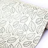 SimpleLife4U Leaf Contact Paper Decorative Self-Adhesive Shelf Liner Dresser Drawer Locker Sticker 17.7 Inch By 9.8 Feet