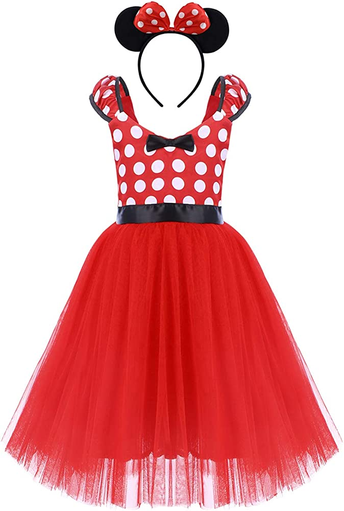 IWEMEK Princesa Disfraz de Minnie para Bebé Niña Navidad de los ...