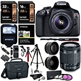 Canon T6 Digital Rebel SLR Camera Kit with EF-S 18-55mm f/3.5-5.6 IS II Lens, 32GB, 16GB 633x Memory Card, Canon Bag and Premium Accessory Bundle