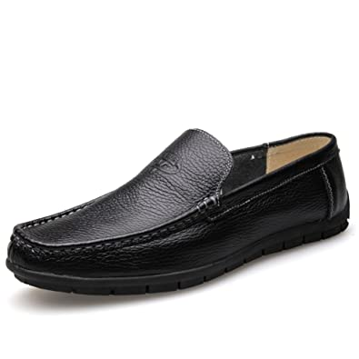 Shoes Men's Shoes Summer Loafers & Slip-Ons For Casual Black Brown White (Color : Black Size : 43)
