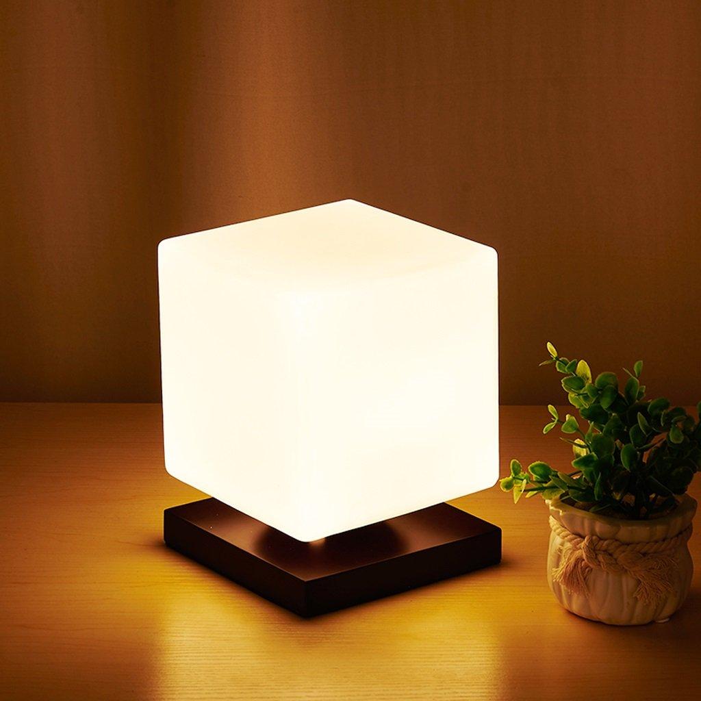 Dimmerabile lampada a LED, in legno di alta qualità della luce moderna piazza, camera da letto di illuminazione studio letto di energia, 15  19 centimetri ( Colore   nero )