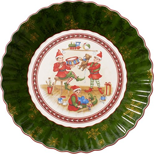 Toy's Fantasy Bunte Teller Elves Serving Bowl by Villeroy & Boch - Perfect for Christmas Gift or Entertaining - Premium Porcelain - Dishwasher and Microwave Safe - Gift Boxed - 10 Inches - Villeroy & Boch Microwave Safe Bowls