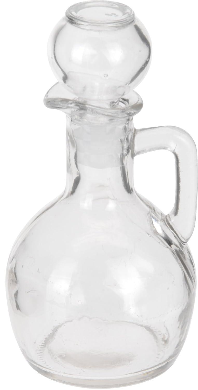 Glass 160ml Oil Balsamic Vinegar Dressing Dispenser Pourer Glass Bottle (Set of 2)