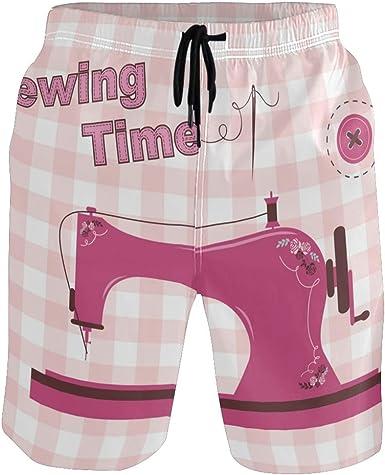 DEZIRO - Pantalones de Playa para Hombre, Color Rosa, Vintage ...