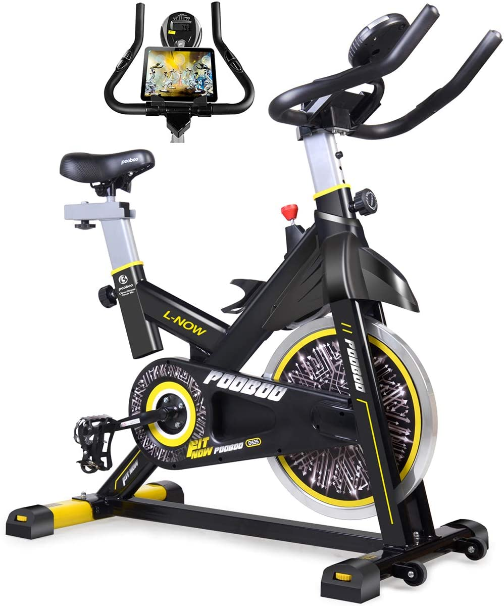 Amazon.com : pooboo Indoor Cycling Bike, Belt Drive Indoor ...