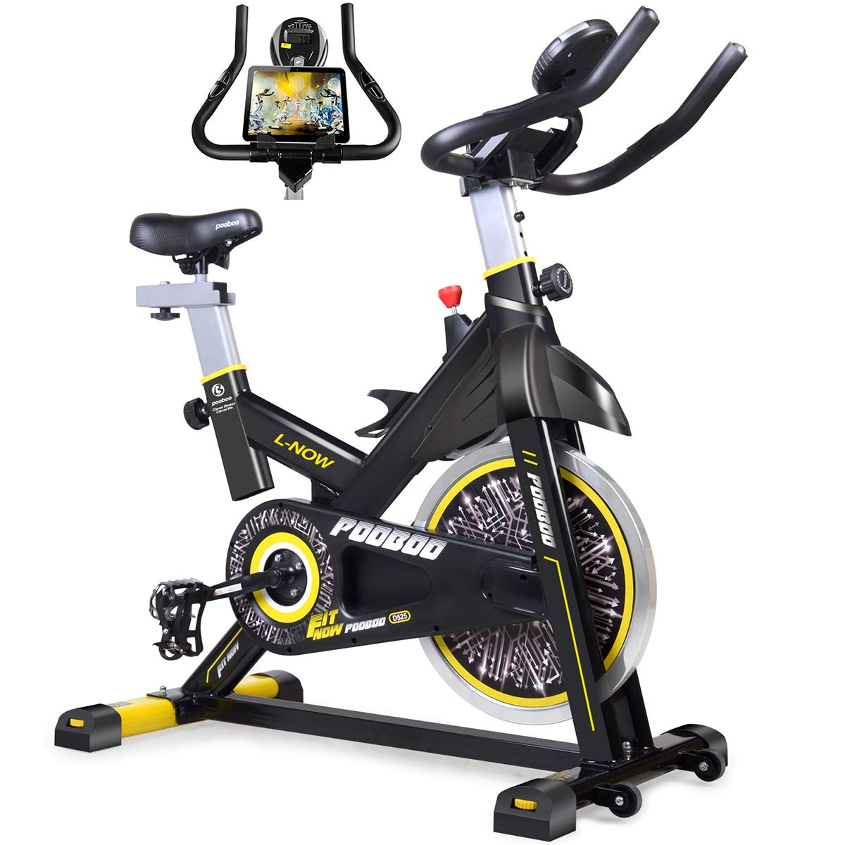 Sunny Health Fitness Magnetic Folding Recumbent Exercise Bike Includes Digital Monitor, Cushioned Seat and Back and 220 lb Max Capacity – SF-RB1117