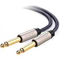 """UGREEN 6.35mm 1/4"""" to 6.35mm 1/4"""" TS Unbalanced Guitar Patch Cords Nylon Braid 6.35mm Male to Male Audio Jack with Zinc Alloy Housing"""