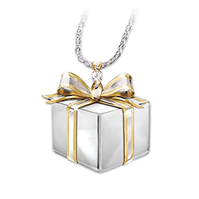 Granddaughter Gift Box-Shaped Diamond Pendant Necklace Grandmau0027s Gift by The Bradford Exchange  sc 1 st  Amazon.com & Amazon.com: Granddaughter Gift Box-Shaped Diamond Pendant Necklace ... Aboutintivar.Com