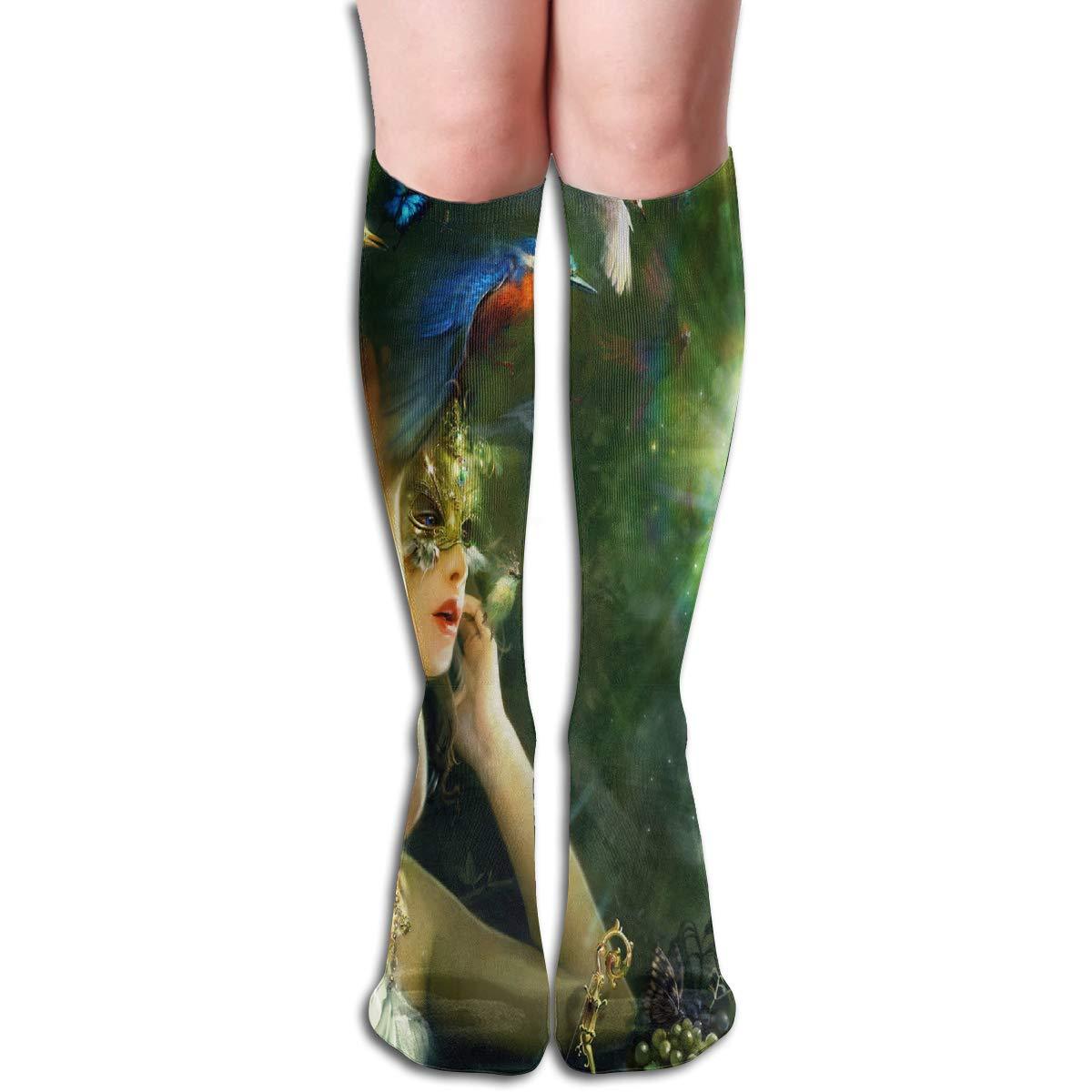 Women Socks Over Knee Fall Leaves Autumn Winter Marvellous For Festive